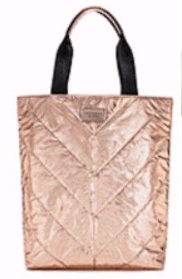 Victoria's Secret LIMITED EDITION Tote Bag Rose Gold Black Book Gym Bag $58