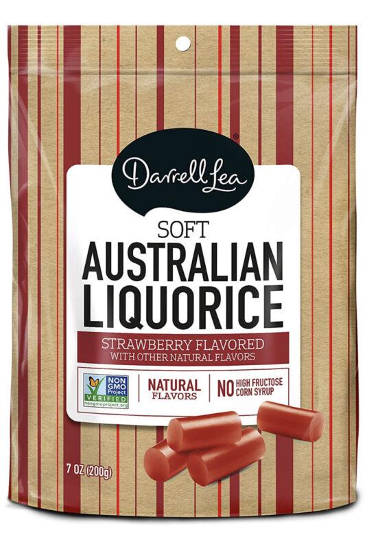 Australia's Darrell Lea Soft Eating Liquorice Strawberry 7oz+
