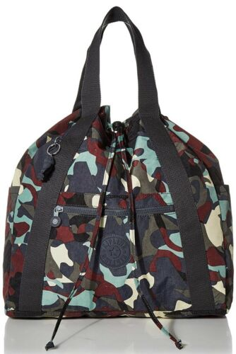 nwt ki0885 large convertible camouflage leather print