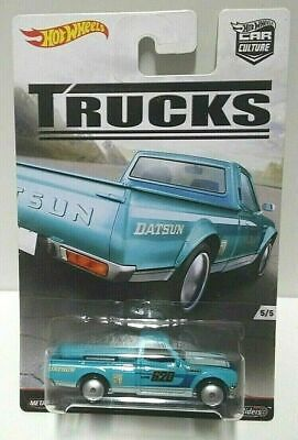 2016 Hot Wheels Trucks Datsun 620 Teal Real Riders! Car Culture VHTF