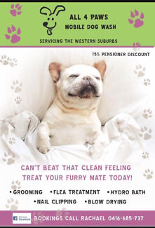 Glossy pooch mobile dog wash grooming gumtree australia casey all 4 paws dog wash mobile solutioingenieria Gallery
