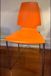 Retro Style Chairs (orange laminate wood) St Peters Marrickville Area Preview