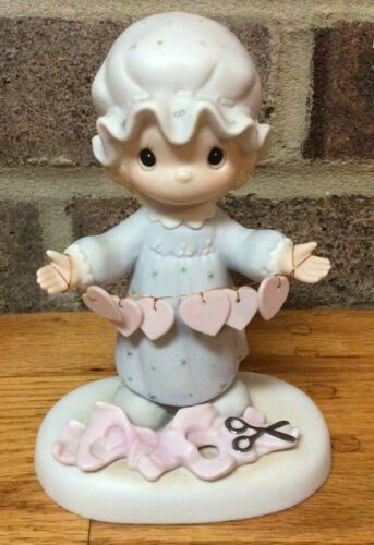 """1983 Precious Moments Figurine """"You Have Touched So Many Hearts"""" E-2821 Girl"""