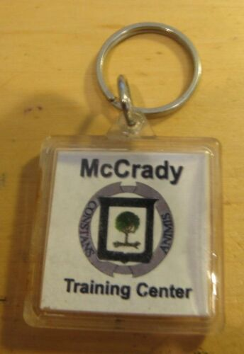 Vintage McCrady Training Center Keychain - Eastover, SC Military South Carolina