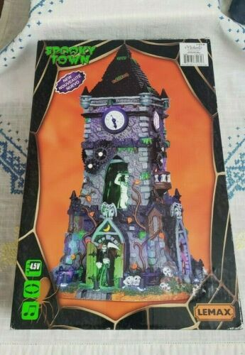 Lemax Halloween Spooky Town Lights Up EUC