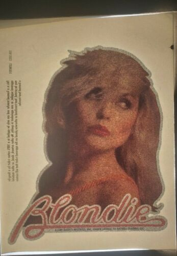 "Blondie Debbie Harry Iron On Heat Transfer Colored / Glitter  6""x 7.5"" Rock Band"