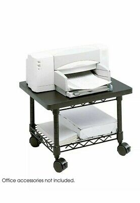 Safco 5206bl Underdesk Printer Fax Stand One-shelf 19w X 16d X 13-12h Black