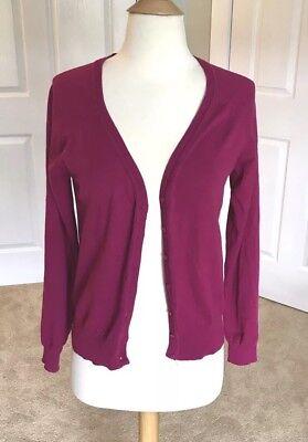 Audrey & Grace Magenta Pink Button Up Sweater Cardigan