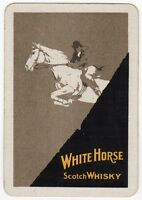 Playing Cards 1 Single Swap - Old Wide White Horse Scotch Whisky Equestrian Jump - scotch - ebay.co.uk