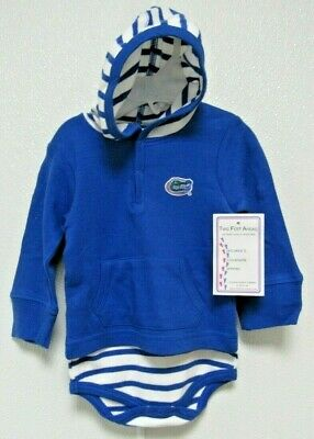 NCAA Florida Gators Royal Blue Hooded Creeper Gator Logo Two Feet Ahead - Royal Blue Gator