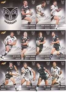 New Zealand Warriors FULL TEAM SET (2012 Select NRL Champions)