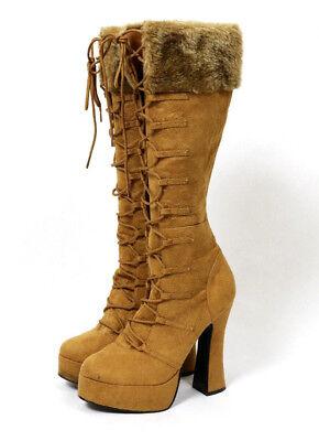Electra Pleaser Boots Heels Native American Eskimo Halloween Adult Costume 6 EUC - Halloween Eskimo Boots