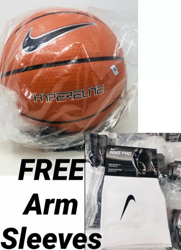"""New Nike Hyper Elite Basketball Ball FULL SIZE 7 29.5"""" — FREE PAIR ARM SLEEVES"""