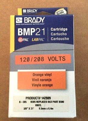 Brady Label Maker Cartridge - Bmp 21 -orange Vinyl - 38 X 21