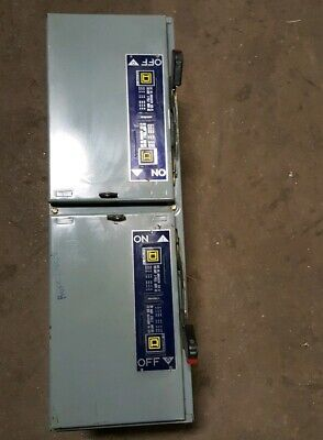 Square D 100 Amp 600 Vac Qmb-363tw Ser.e1 Double Throw  Switch
