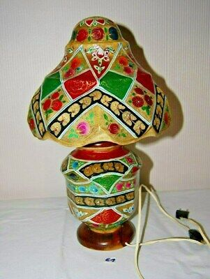 E1 Magnifique lampe -  style musulman - emaux - Piece unique fait main