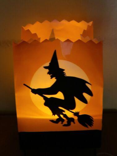 Hallmark Hauntington cackling witch luminary lighted talking Halloween decor
