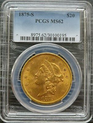 1875 S $20 PCGS MS62 LIBERTY