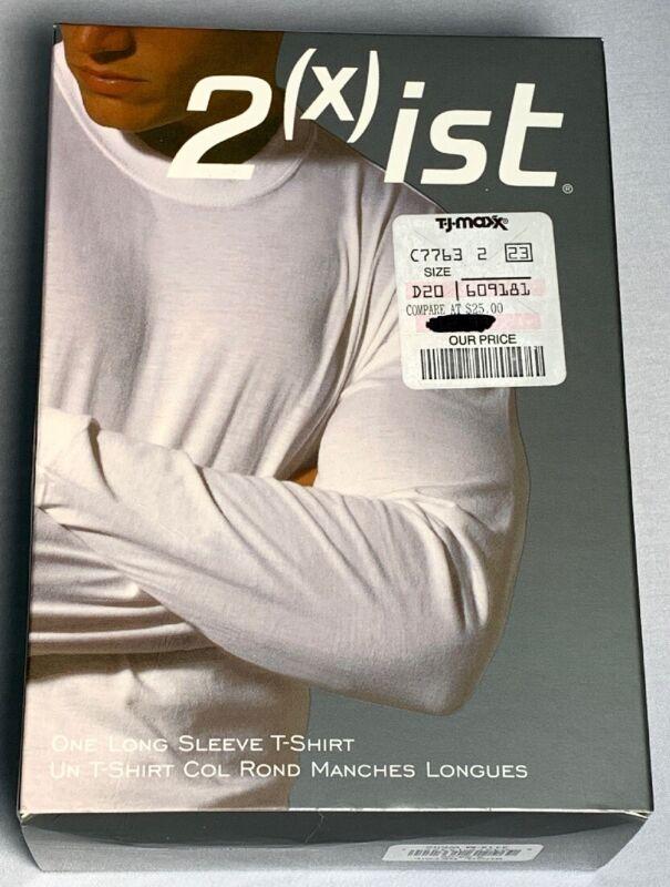 Vintage 2XIST Mens One Long Sleeve T-Shirt White Size Medium