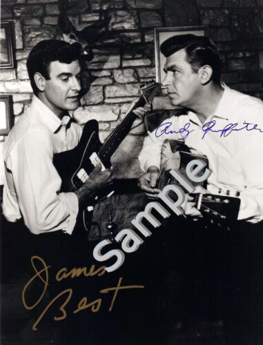 James Best & Andy Griffith 8.5x11 Dual Signed Autograph RP [Mint]