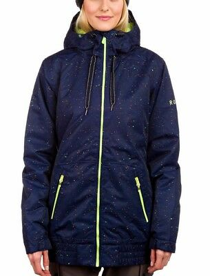 WOMANS ROXY VALLEY HOODIE SKI SNOWBOARD JACKET EXTRA SMALL  / R1