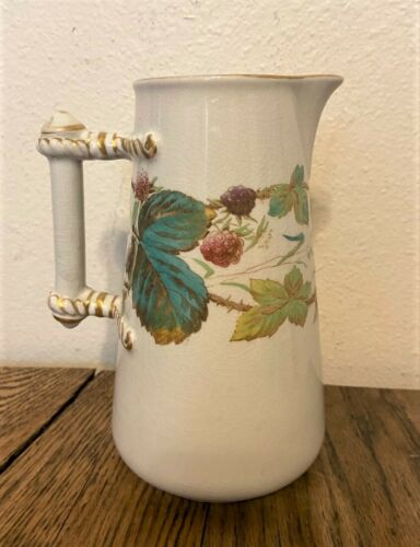 Antique English Diamond Mark Staffordshire Porcelain Pitcher Jug - 7.25""