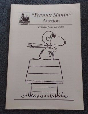 Illustration House Auction Catalog 2000 Peanuts Mania *Charles M Schulz Snoopy +