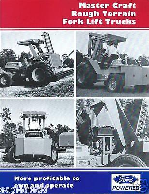 Fork Lift Truck Brochure - Master Craft - Rough Terrain - Ford - C1991 Lt175