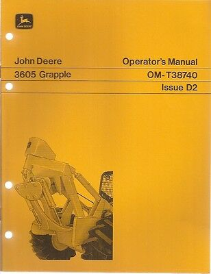 John Deere 3605 Grapple Operators Manual