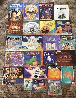 Lot of 23 HALLOWEEN Children's Picture Books SCHOLASTIC Teacher Class Homeschool - English Class Halloween