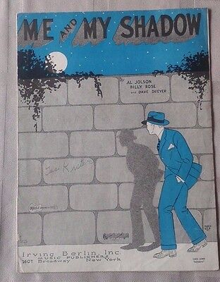 """Vintage Sheet Music """"Me And My Shadow"""" By Al Jolson"""