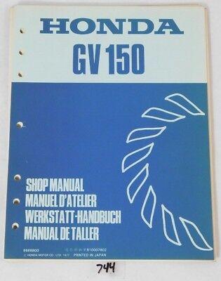 Genuine Honda GV150 Engine Motor Factory Service Repair Book Shop Manual OEM GV