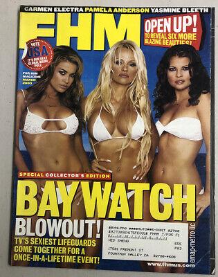 FHM Magazine March 2003 Baywatch Blowout Pamela Carmen Yasmine Free Shipping