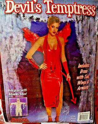 Devil's Temptress Adult Women's Costume  size 6-12 must c feels like leather (Adult Kostüm Muster)