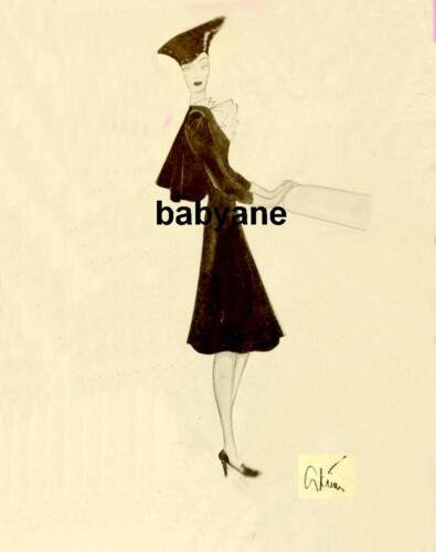 GILBERT ADRIAN COSTUME SKETCH PHOTO NORMA SHEARER FOR THE WOMEN #2