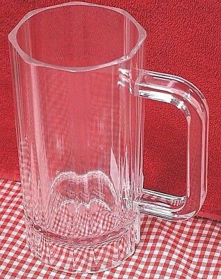 Pair of 2 16 oz BEER MUG Clear Heavy Polycarbonate Durable Plastic Bar Mugs