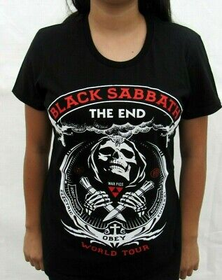 BLACK SABBATH THE END WORLD TOUR PUNK ROCK T SHIRT WOMEN'S SIZES