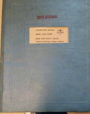 Trygon Sr36-40 Ov Transistorized Power Supply Instruction Manual R3-s45