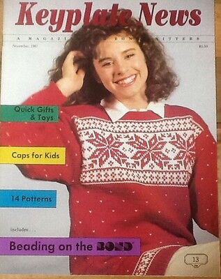 1987 Keyplate News # 13 Pattern Book Bond USM  Ultimate Sweater Machine knitting