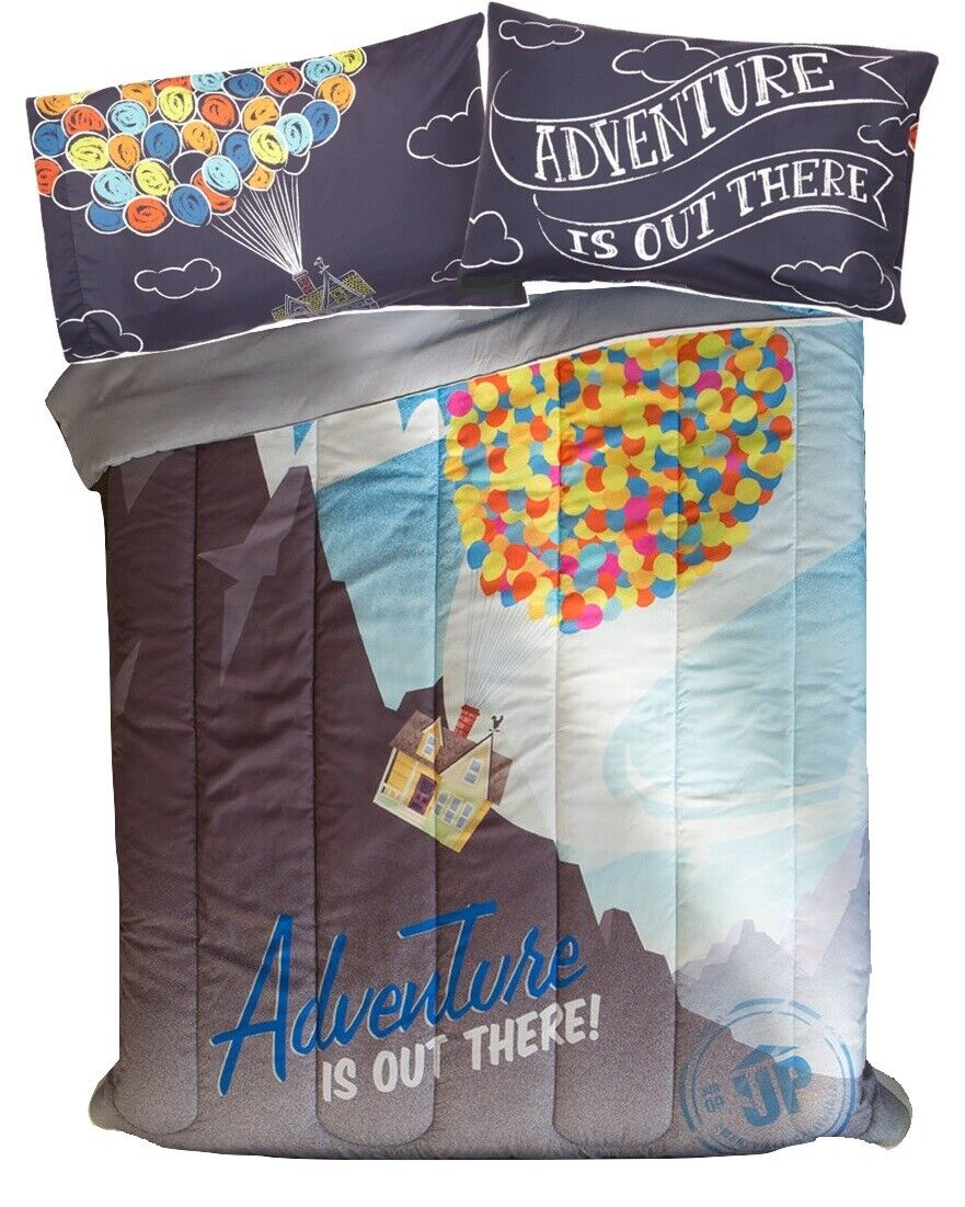 Disney UP ADVENTURE IS OUT THERE 3pc FULL Bed Set