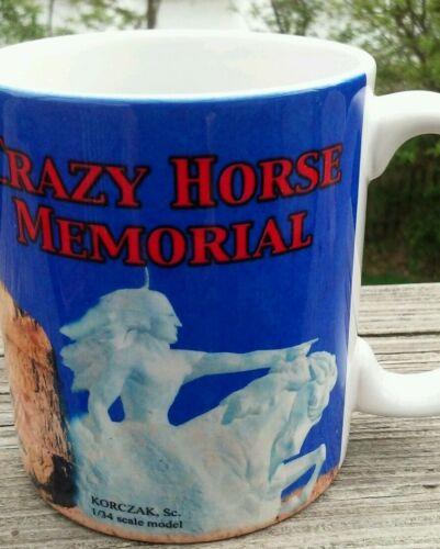 Crazy Horse Black Hills SD Korczak Mug Ceramic Blue Horse Coffee Memorial Cup