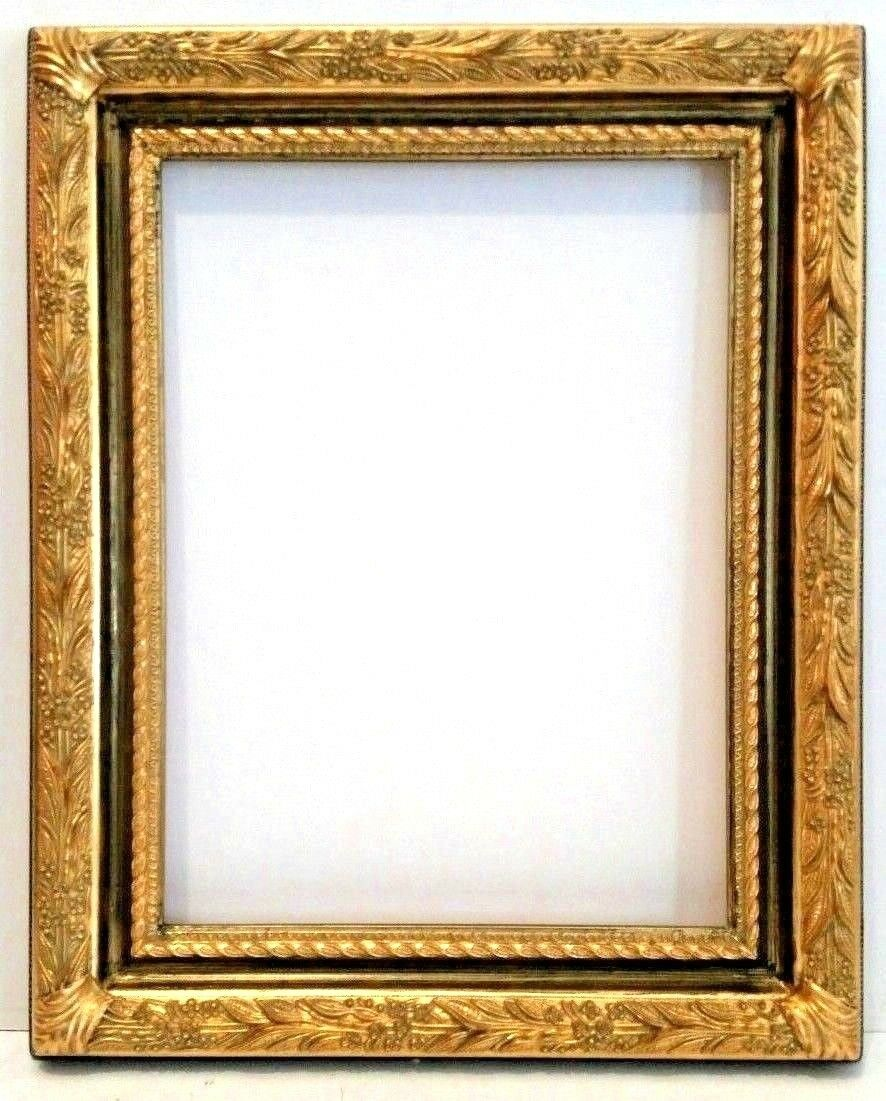 16 X 20  BEAUTIFULLY DETAILED CARVED GOLD LEAF PICTURE FRAME