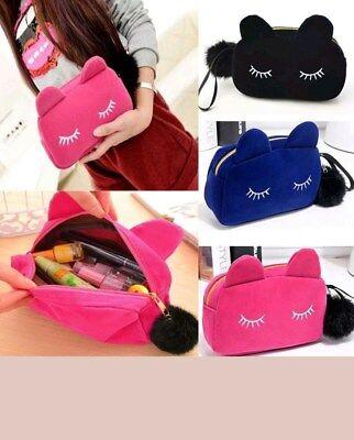 Gorgeous Portable Cartoon Cat Coin Storage Case Makeup Pouch Glamor Cosmetic Bag](Cat Makeup)
