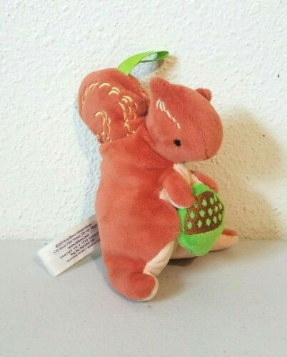 EeBoo Squirrel Baby Rattle Stuffed Plush 5""