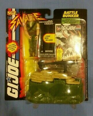 GI Joe Sgt. Savage Battle Bunker W/ Battle Command Sgt. Savage Action Figure MOC - $19.99