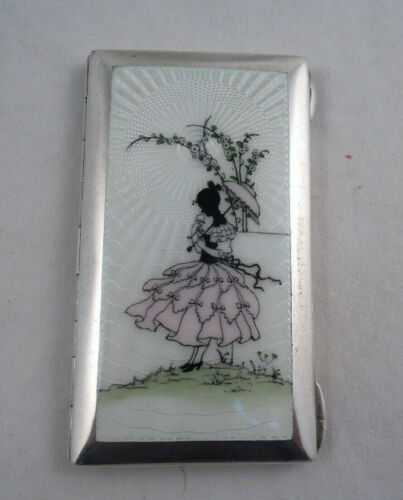 AUSTRIAN GUILLOCHE STERLING SILVER AND ENAMEL CASE / BOX UNKNOWN MAKER