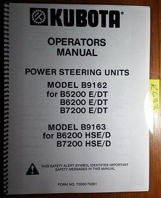 Kubota B9162 B9163 Power Steering Unit For B5200 B6200 B7200 Edt Hsed Manual