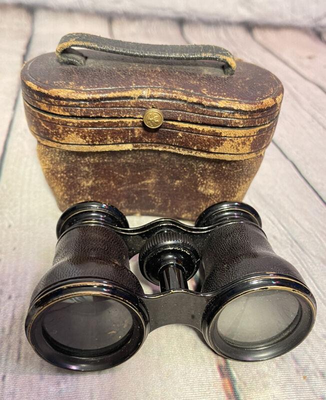 Antique Lemaire Fabi Paris Opera Glasses Binoculars in Case