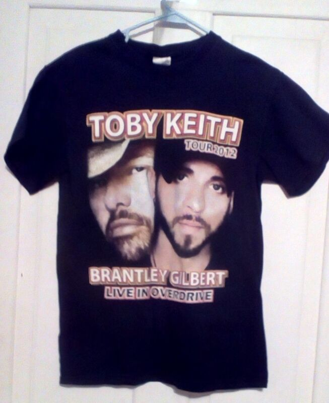 Toby Keith Tour 2012 Brantley Gilbert Live In Overdrive Sm/Concert T-Shirt Black