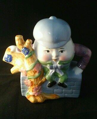 Decorative Humpty Dumpty Ceramic Teapot, Nursery Rhyme Decor. Fairytale